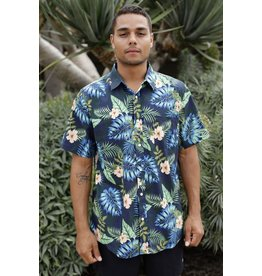 Island Haze Island Haze Tropical Floral Print Button Up