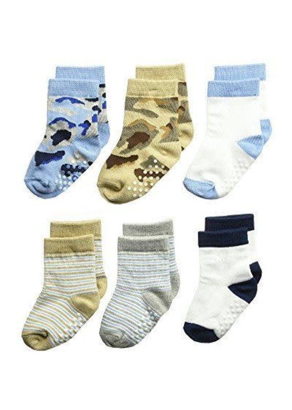 Jefferies Socks Non-Skid Camo/Stripe Sock