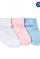 Jefferies Socks Bubble Booties - 2 pair pack - blue