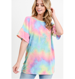 First Love Tie-Dye Neon Top