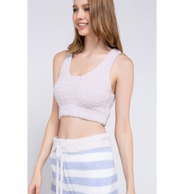 POL Fleece Razor Back Cropped Tank