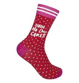 Funatic Shhh No One Cares Socks