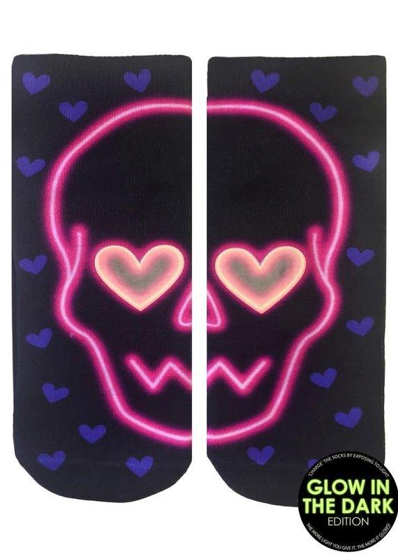 Living Royal Glow/Glitter Sock-Skull