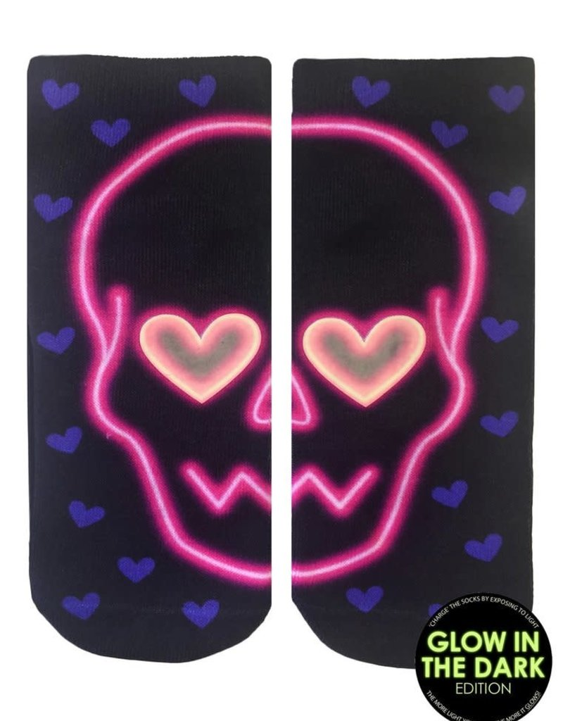 Living Royal Glow/Glitter Sock-Skull