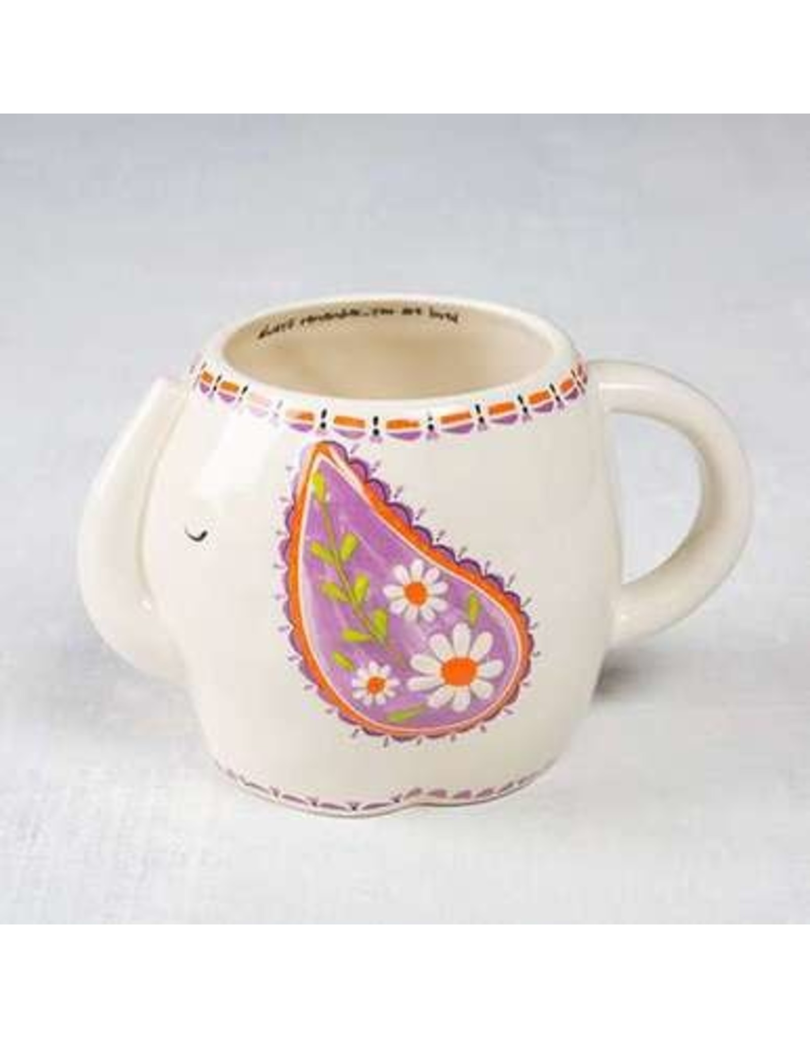 Natural Life Elephant Folk Art Mug
