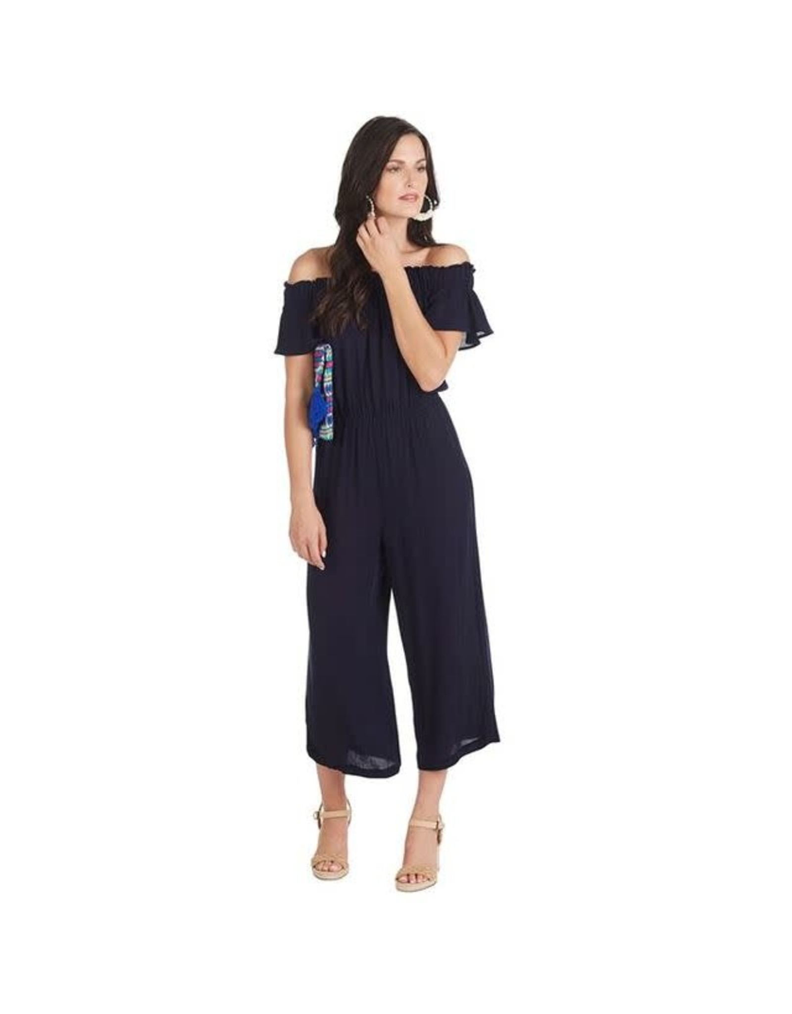 Mud Pie Jasmine Off The Shoulder Jumpsuit-S