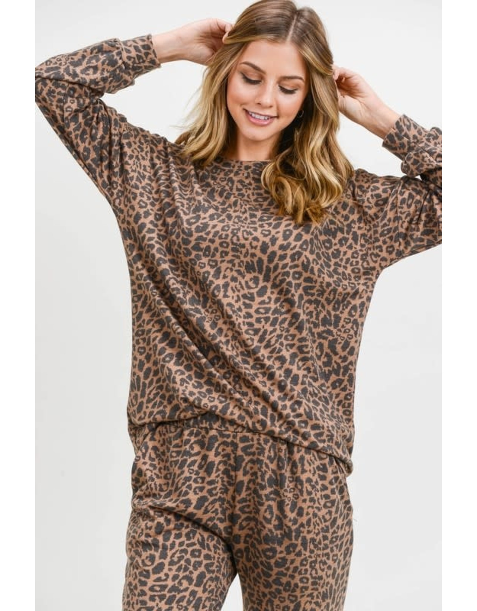 First Love Leopard Long Sleeve Top