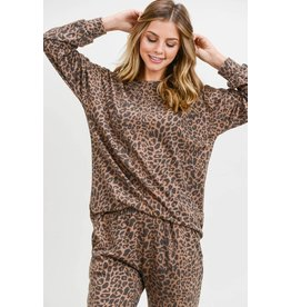 First Love Leopard Long Sleeve Top