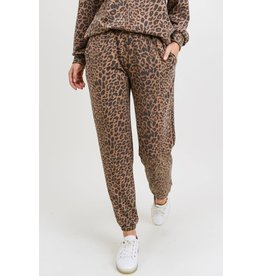 First Love Leopard Joggers