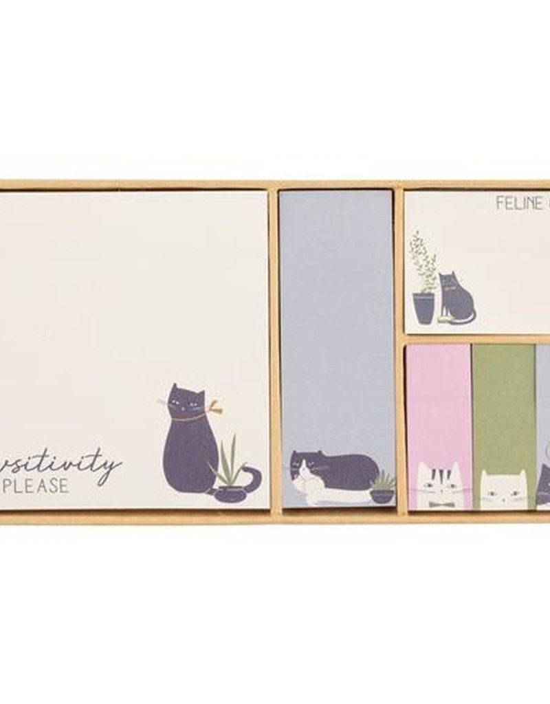 Karma Boxed Sticky Notes-Cat