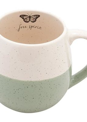 Karma Speckled Mug-Butterfly
