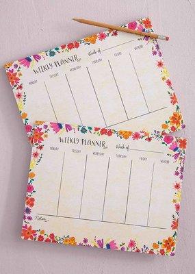 Natural Life Weekly Desk Planner-Pink Floral