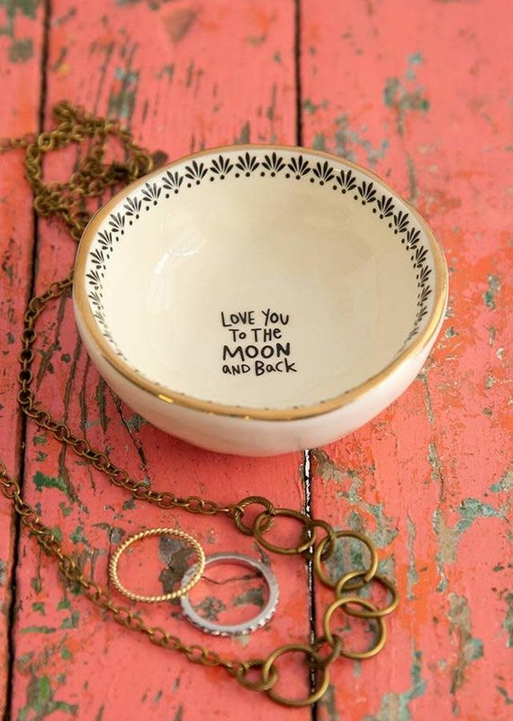 Natural Life Trinket Bowl- Moon & Back