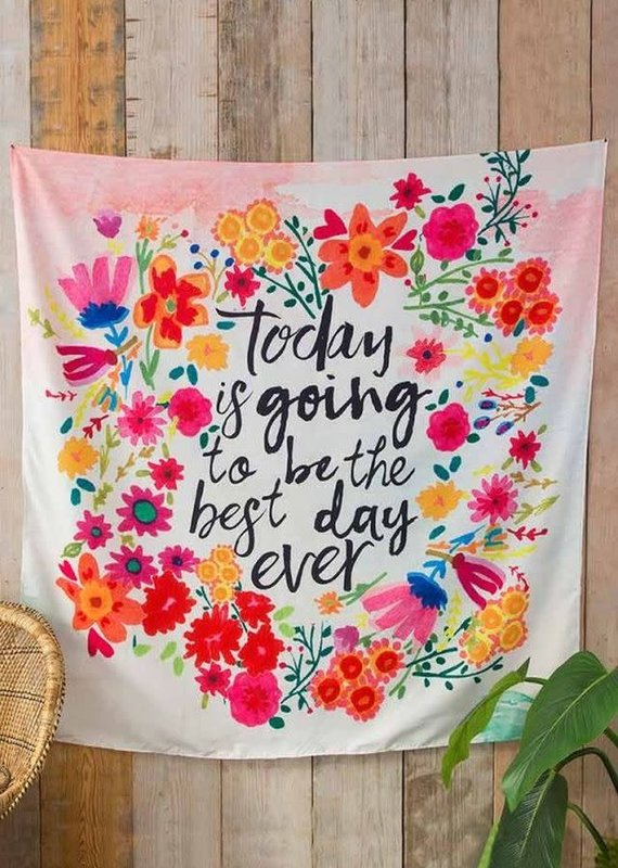 Natural Life Best Day Ever Tapestry