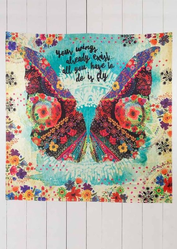 Natural Life Your Wings Fly Tapestry