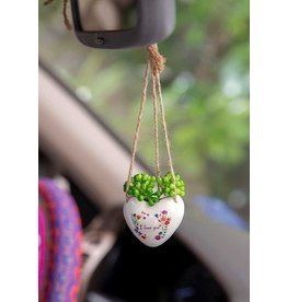 Natural Life Hanging Succulent- Love