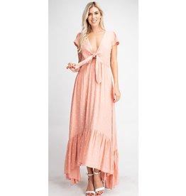Glam LA Ruffled High-Low Maxi Dress
