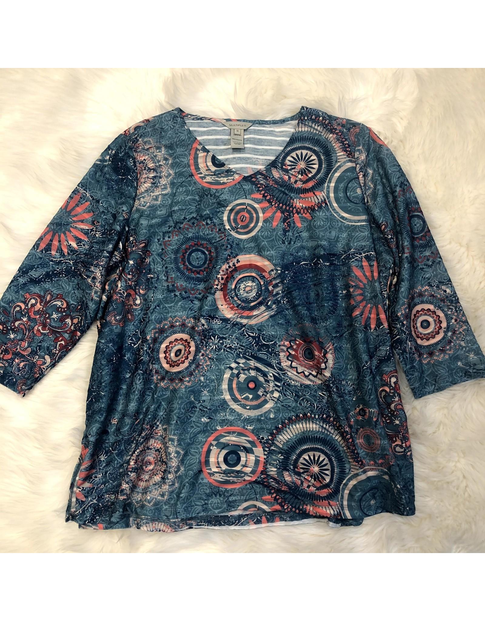 Jerell Clothing Company 3/4 Slv Sing Shape Knit Top 1XL