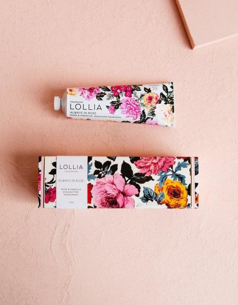 Lollia Always in Rose Shea Butter Hand Creme