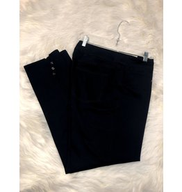 Multiples Wide Band Solid Ankle Pant