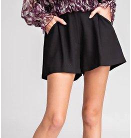 Glam LA Pleated High Waist Shorts