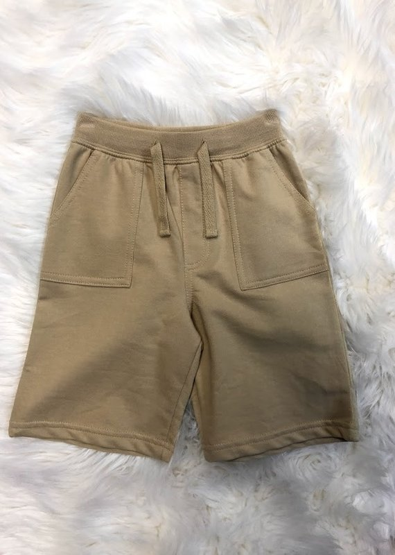 Global Tex Kids Basic Khaki Pull On Terry Short