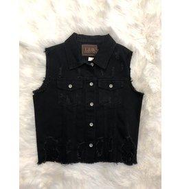 L & B Black Serape Vest