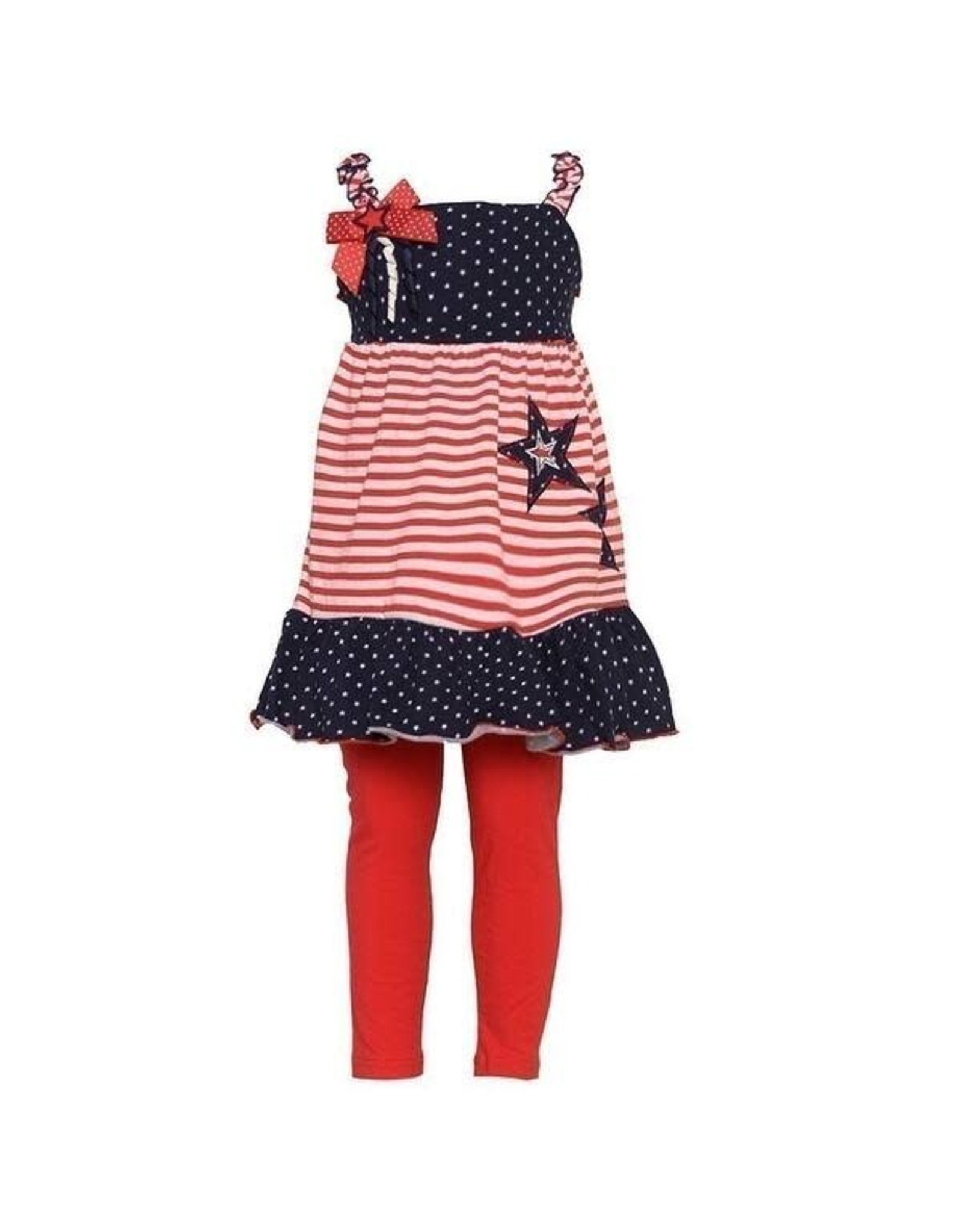 Good Lad Apparel 4th of July Star dress with Bow-2T