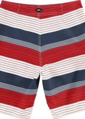 O'Neill Sportswear Santa Cruz Stripe Red White Blue Shorts