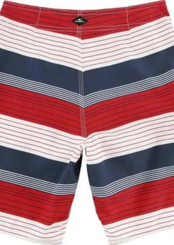O'Neill Sportswear Santa Cruz Stripe Red White Blue Shorts