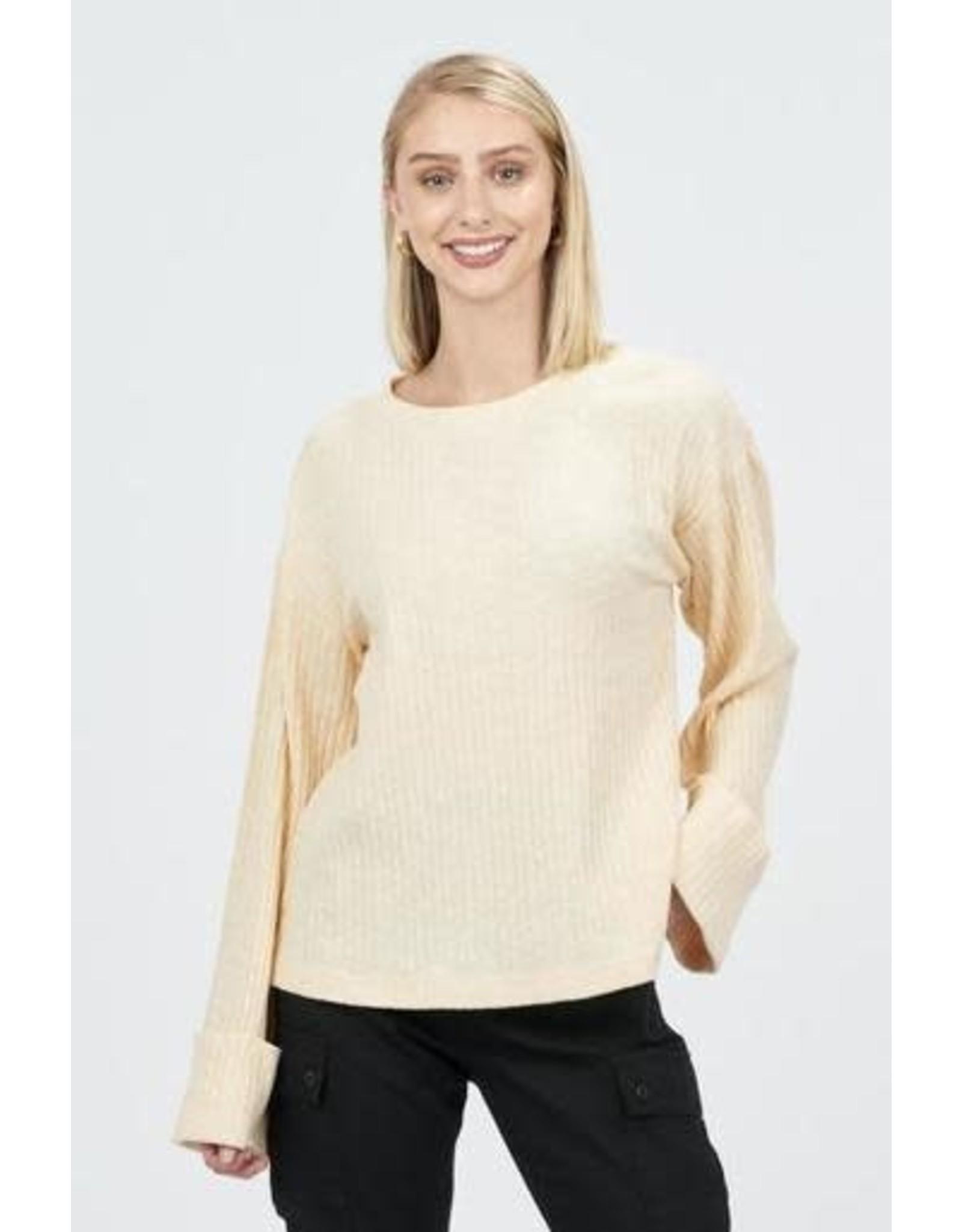 Very J Beige Sweater
