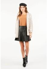 Very J Black Flared Skirt