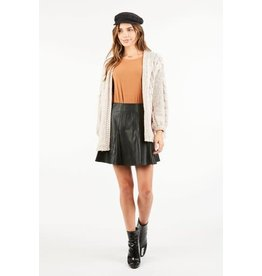 Very J Black Flared Skirt