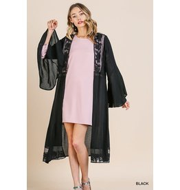Umgee Sheer Floral Lace Cardigan