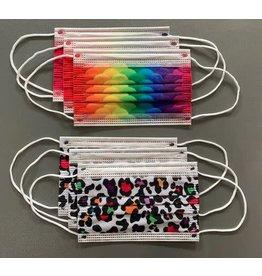 Watchitude 6 Pack Kids Mask-Leopard/Rainbow