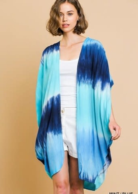 Umgee Tie Dye Print Short Kimono
