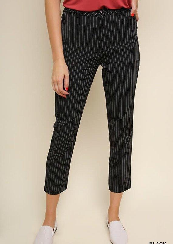 Umgee High Waist Pinstripe Trouser