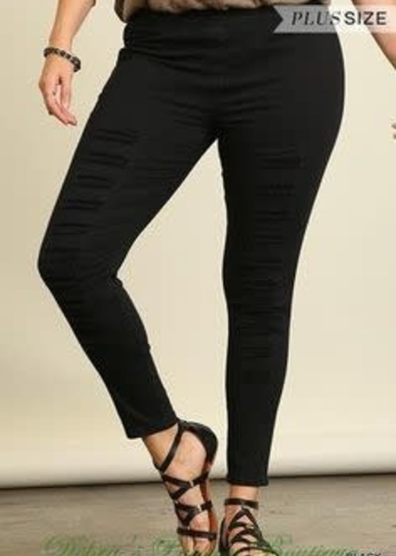 Umgee High Waisted Distressed Jeggings