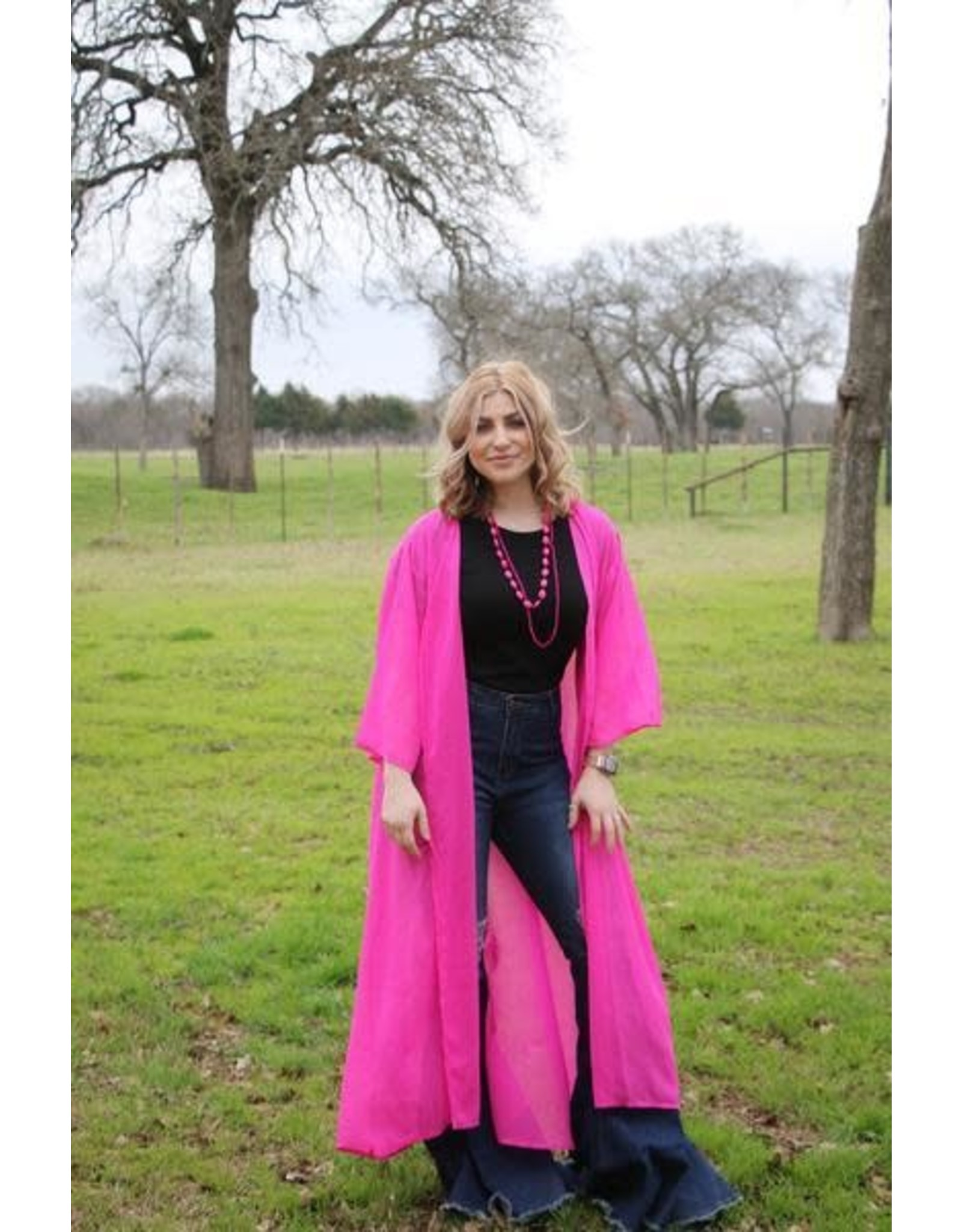 Turquoise Haven Hot Pink Duster