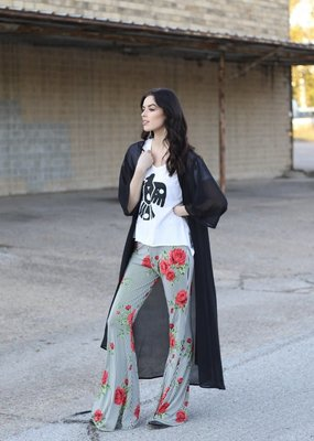 Turquoise Haven Black Duster