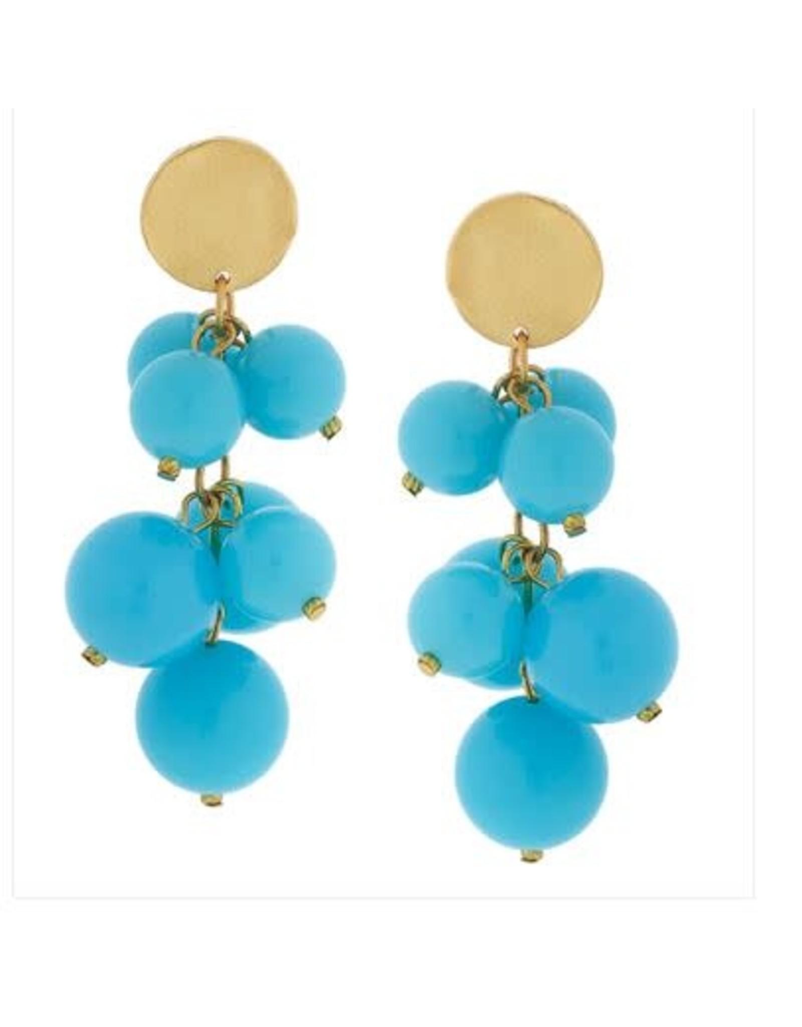 Susan Shaw Multi Ball Earrings