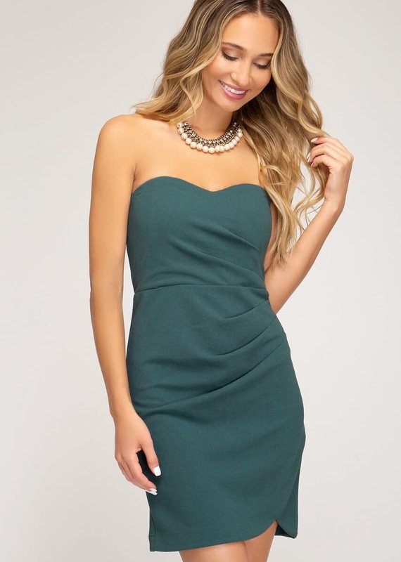 She+Sky Date Night Strapless Dress