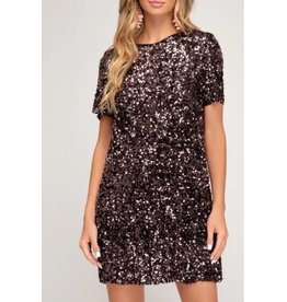 She+Sky Sequin Mini Dress