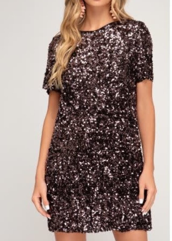 She+Sky Midnight Sky Sequin Dress