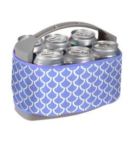 Occasionally Made Six Pack Can Cooler Scallop