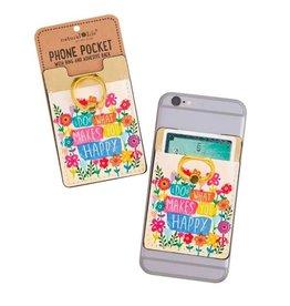 Natural Life Happy Phone Pocket