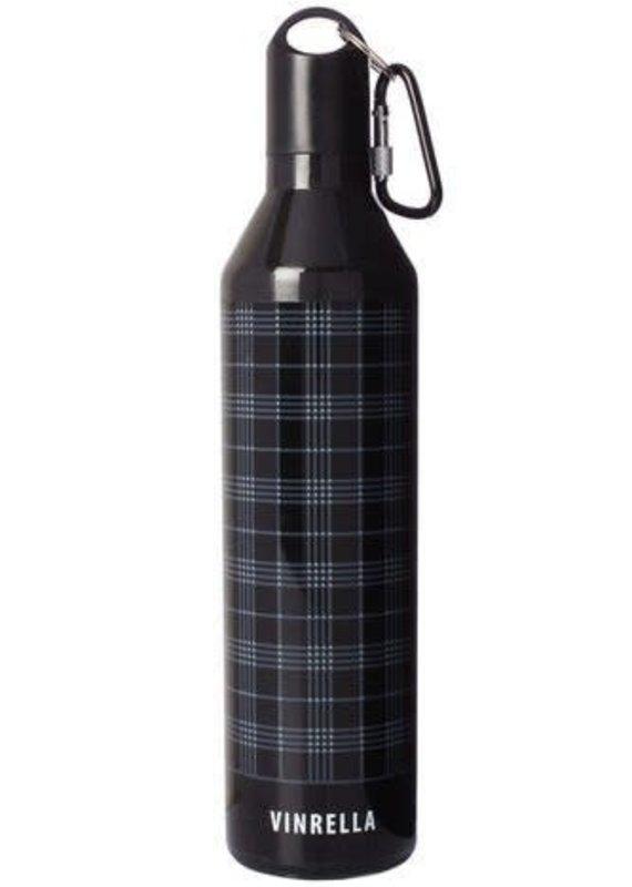 Vinrella BLK/GRY Plaid Bottle Umbrella