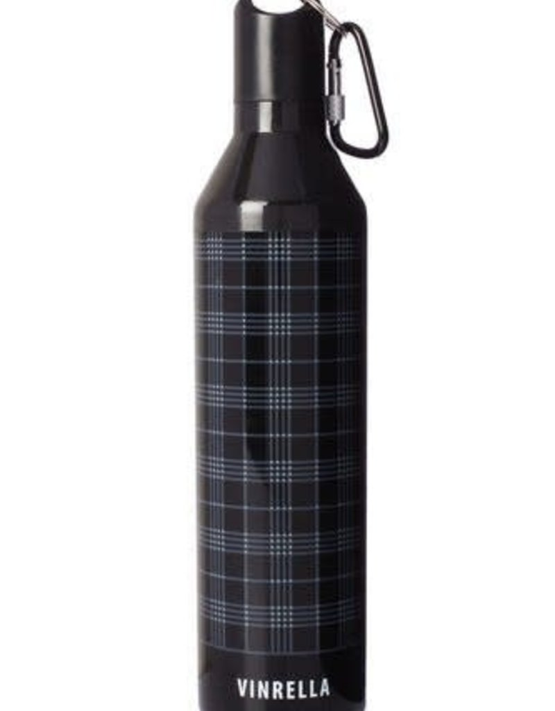 Vinrella BLK/GRY Plaid Bottle Umbrella