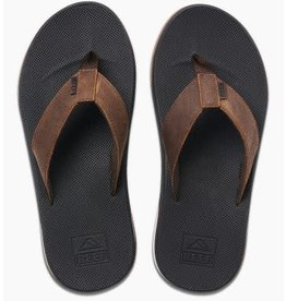 Reef Leather Fanning Low Dark Brown
