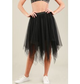 POL Tulle Full Midi Skirt-S